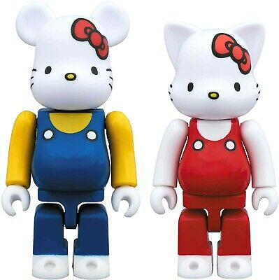 $54 • Buy BEARBRICK Hello Kitty 2 Pack Set 100% Figure Toy BE@RBRICK Made In Japan Limited