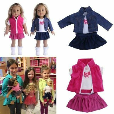Doll Clothes Dress Outfits Pajames For 18 Inch American Girl Our Generation • 5.59£