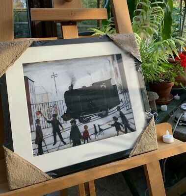 Vintage UNOPENED LS Lowry Print Framed With Ash  Level Crossing  42.8cm X 37.2cm • 26£