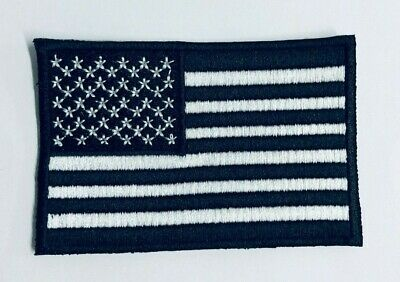 UNITED STATES OF AMERICA Black Flag Iron On Patch Sew On Badge Embroidered Patch • 1.99£