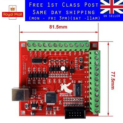 $27.94 • Buy CNC USB MACH3 100Khz Breakout Board 4 Axis Interface Driver Motion Controller UK