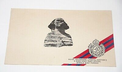 WW2 Egypt ROYAL ENGINEERS POST OFFICE 1941 XMAS CARD Postal Section MEF • 9.99£