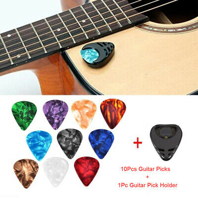 $ CDN1.52 • Buy 10Pcs Plectrums 1 Pick Holder Electric Celluloid Acoustic Guitar Picks Colorf .