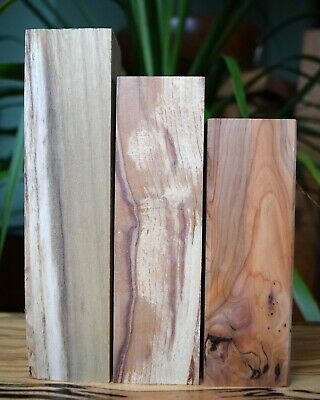 Woodturning Smaller Blanks X3 Woods Black Locust/Spalted Greengage/Yew     • 4.20£