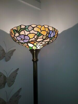 Tiffany Style Floor Lamp,  Flowers  With Heavy Base • 180£