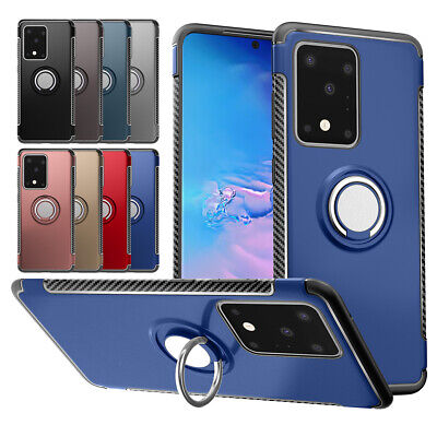 AU10.72 • Buy For Samsung Galaxy S20 Ultra S10+ S8 Plus S7 Edge Rotate Magetic Ring Case Cover