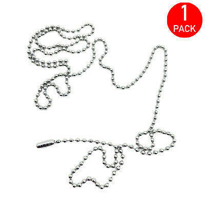 £1.99 • Buy  30  Stainless Steel Ball Chain Bead For Dog Tags Necklaces 304 Grade (1 Pack)