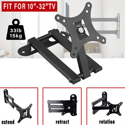 TV Wall Mount Bracket Tilt Swivel 10 17 22 26 30 32  Plasma LCD LED Flat Monitor • 6.66£