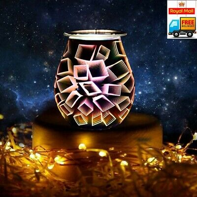 Electric Wax Melt Burner 3d Starburst With Touch Control And Yankee Candle Melt • 18.99£