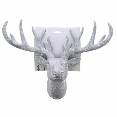 £19.99 • Buy Best Wall Mounted Gold Glitter Stag Head Brand New Boxed Christmas Gift Deer Uk