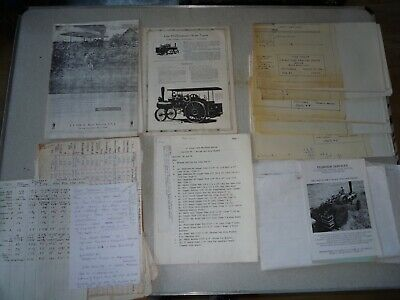 Various Plans & Information On The Case 65 Horsepower 2 & 3 Inch Steam Tractor • 15£