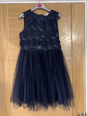 Gurls Navy Party Dress From Yumi - Age 9-10 Years • 2.50£