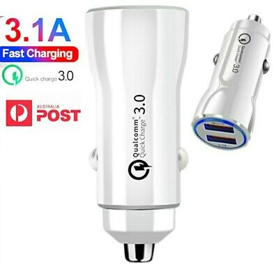 AU8.50 • Buy Quick Charge 3.0 In Car Charger 2 Ports USB Qualcomm QC Fast Charging Adapter AU