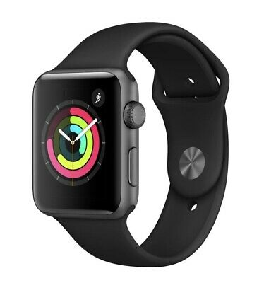 AU349 • Buy Apple Watch Series 3 42mm Space Grey Aluminium Black Sport (AU Stock)
