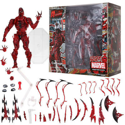 Marvel Carnage Red Venom No. Revoltech Series Action Figure Toy Gift Collectible • 22.99£