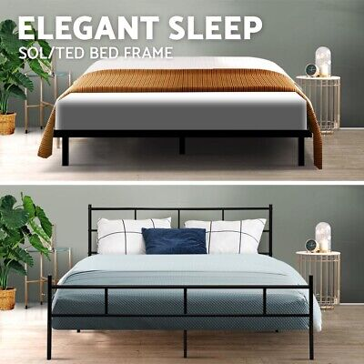 AU109.95 • Buy Metal Bed Frame Queen Double King Single Full Size Mattress Wood Base Platform