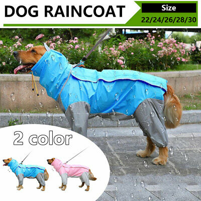 Dog Clothes Rain Coat Waterproof 4 Legs Pet Raincoat Hoodie For Small Middle Dog • 14.79£
