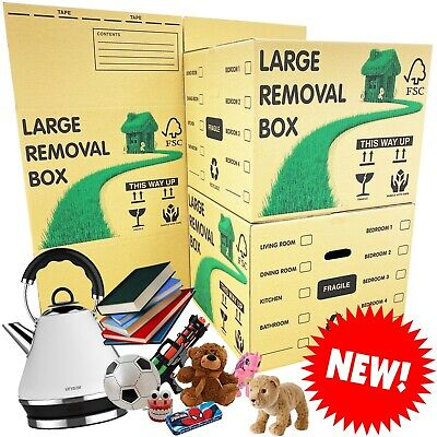 NEW * LARGE Cardboard House Moving Boxes - Removal Packing Box *OFFER* 24HRS • 24.95£