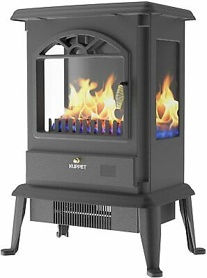 3 Side Fire Electric Fireplace Stove Freestanding Portable Indoor Space Heater • 79.99£