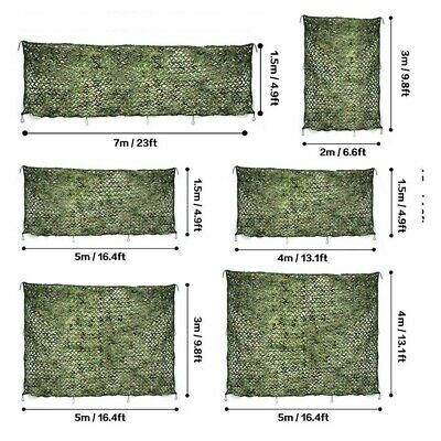 Military Camouflage Net Camo Netting Hunting Car Outdoor Tarp Tent Sun Shelter • 9.98£