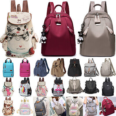 Women Ladies Men Backpack Laptop School Book Bag Outdoor Travel Rucksack Handbag • 11.99£