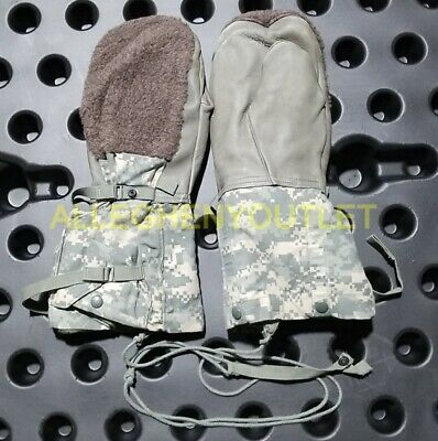 $16.90 • Buy US Military ARCTIC MITTENS ACU ECW Extreme Cold Weather Gloves N-4B Medium GC