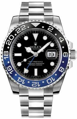 $ CDN25405.64 • Buy Rolex GMT-Master II Batman Men's Watch 116710BLNR-0002