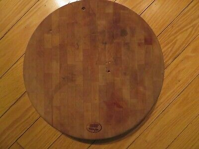 $ CDN172.54 • Buy VINTAGE Heavy, Thick, Round WEBER GRILL Cutting Board, Needs Refinishing