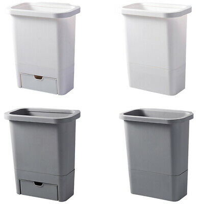 AU16.99 • Buy 1X(12L Kitchen Trash Can For Cabinet Door Trash Bin Plastic Waste Bin With Q6P4