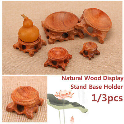 3PCS Natural Wood Display Stand Base Holder For Crystal Ball Sphere Globe Stone • 7.91£
