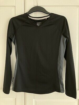 Womens Mountain Warehouse Quick Drying UV Protection Black Base Layer Top, 10 • 5£