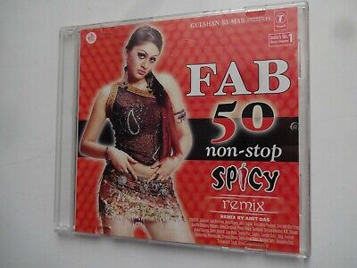 FAB 50 NON STOP SPICY REMIX ~ Bollywood Soundtrack Remix Hindi CD ~ 2004 • 4.95£