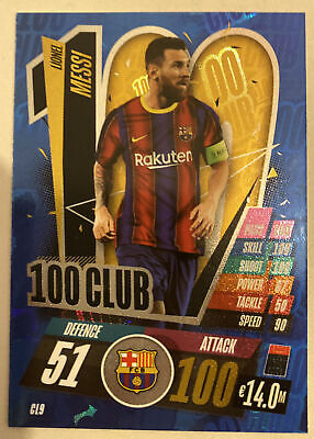 Match Attax 20/21 - Lionel Messi 100 Club • 2.40£
