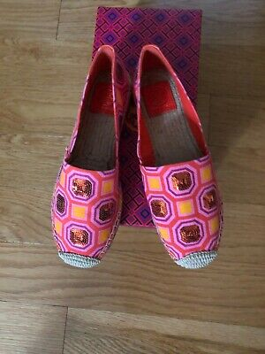 $65 • Buy Tory Burch Cecily Flat Espadrilles Pink Size 7.5 NEW Without Tags