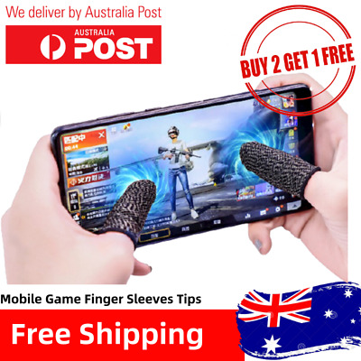 AU2.99 • Buy Mobile Finger Sleeve  Finger Tips Touch Screen Game Controller Sweatproof Gloves