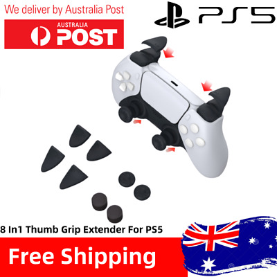 AU5.99 • Buy PS4 PS5 8 In1 Thumb Stick Grip Cap Joystick Cover L2 R2 Button Extenders For PS