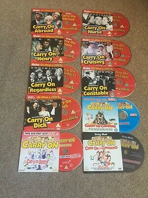 Carry On DVD Collection (10 DVD's) THE SUN , News Of The World , Daily Mail • 3.50£