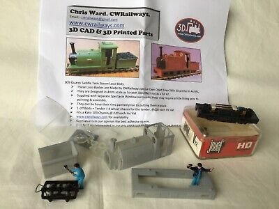 009 Narrow Gauge Quarry Saddle Tank Loco Body Kit By CWR & Kato 103 Chassis • 48£