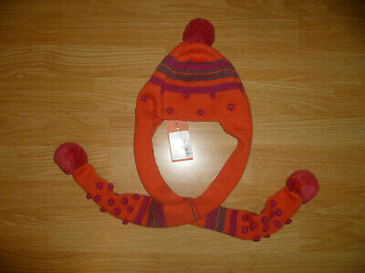 BNWT Cute Girls Designer MARESE Bobble Hat & Scarf All In One 51 CM 1- 3 Years • 8£