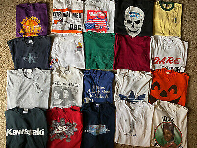 $ CDN130.34 • Buy 21 T Shirt Lot Bundle Resell Wholesale Sports Modern Vtg