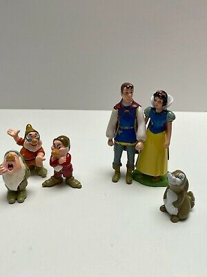 Disney Snow White And The Seven Dwarfs Figure Bundle Playset • 3.10£