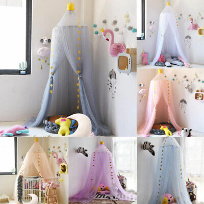 7 Layers Tulle Mosquito Bed Canopy Tent Bedding Dome Net Curtain Baby Kids House • 21.29£