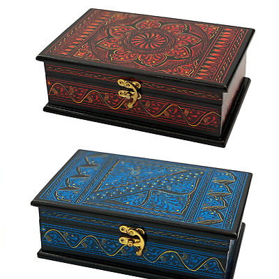 EDOZOS® - Wooden Boxes For Jewellery, Contemporary Style,Crafted&Painted By Hand • 16.99£