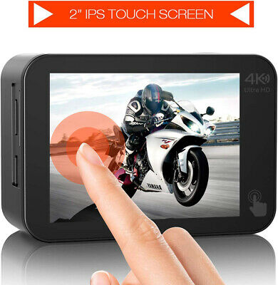 AU103.54 • Buy 4K 20MP Action Camera Sport Camera EIS Touch Screen WiFi Waterproof With GoPro