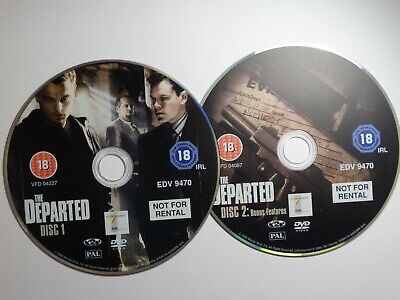 The Departed (DVD, 2007, 2-Disc Set) Starring Leonardo DiCaprio DISC ONLY • 1.27£