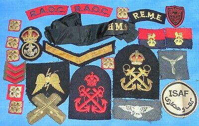 Large Mixed Lot Of Assorted British Army & Royal Navy Cloth Badges, WW2 & After • 8.50£