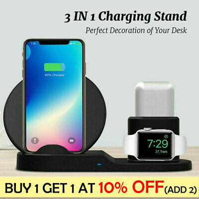 3in1 10W Wireless Charger Charging Dock Station For Apple Watch / IPhone/Air Pod • 16.99£