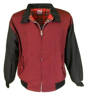 Relco Rockabilly Harrington Jacket Burgundy XL Retro Lambretta Scooters Skinhead • 25£