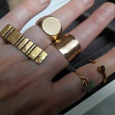 $ CDN15.64 • Buy  Ring Lot Set Jewelry Vintage Rings Different Gold Tone