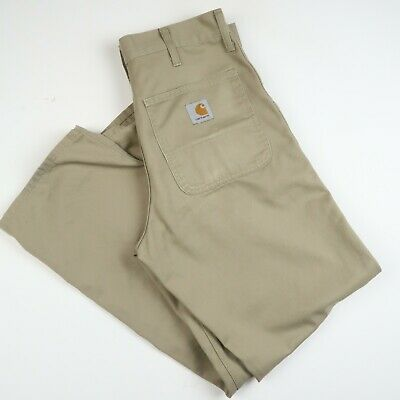 Carhartt Mens Simple Pants Trousers Chinos Sand Sz 31  X 30  (E629) • 16.99£